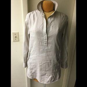 Neiman Marcus Beige linen shirt